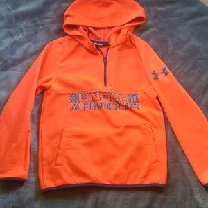 1/4 zip boys UA hoodie